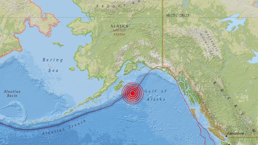 Un terremoto de magnitud 4,1 sacude el golfo de Alaska