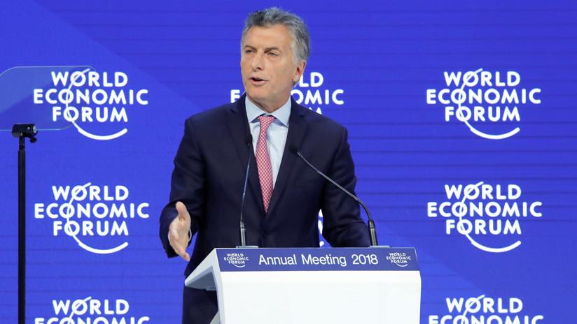 """Mauricio Macri en Davos: """"En Sudamérica todos somos descendientes de europeos"""""""