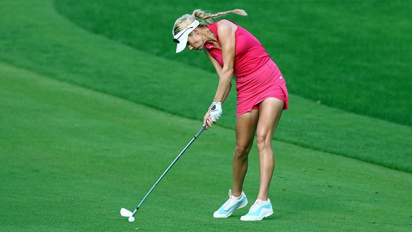 La golfista 'más sexy del mundo' divide las redes por una polémica invitación a un torneo masculino