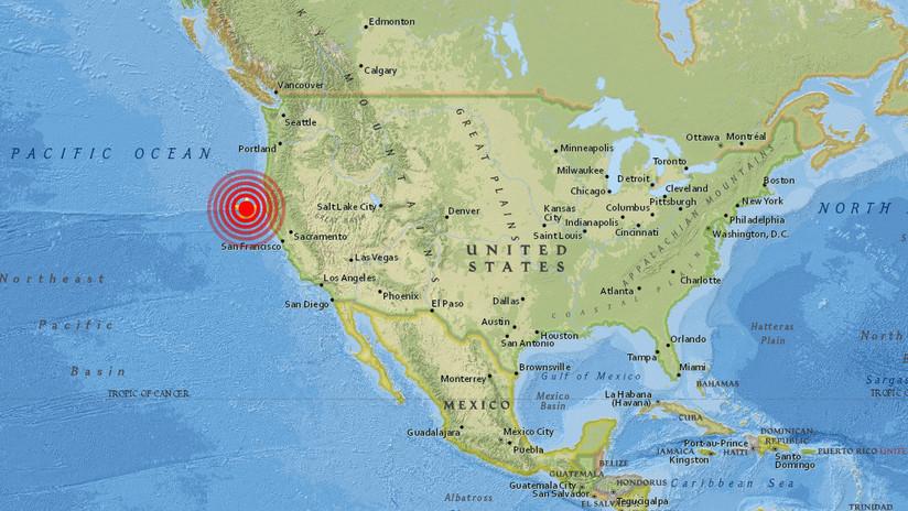 Se registra un sismo de magnitud 5,8 frente a las costas de California