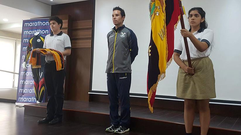 ¡Histórico! Abanderado el primer ecuatoriano que participará en unos Juegos Olímpicos de Invierno