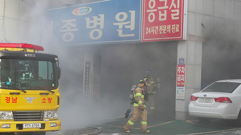 Al menos 31 muertos y más de 40 heridos en el incendio de un hospital en Corea del Sur 5a6a847208f3d950238b4567