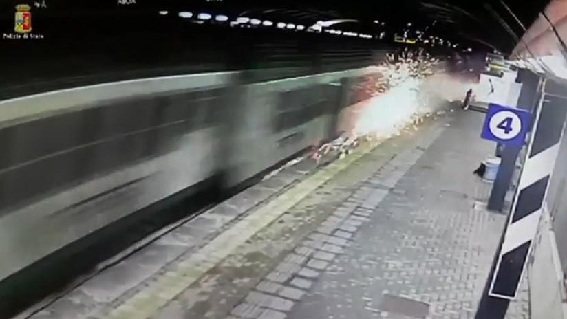 VIDEO: Así fueron los instantes previos al trágico descarrilamiento de un tren en Milán