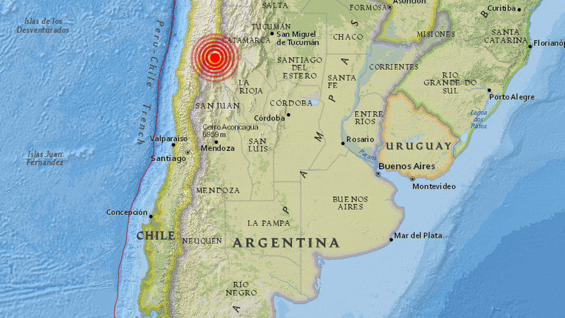Se registra un sismo de magnitud 5,1 en Argentina