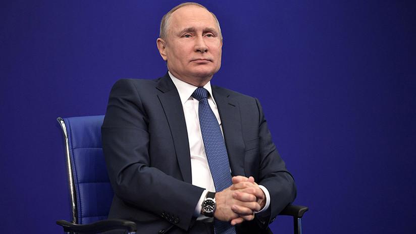 """Putin bromea diciendo que """"lamenta"""" no haber sido incluido en la 'lista del Kremlin'"""