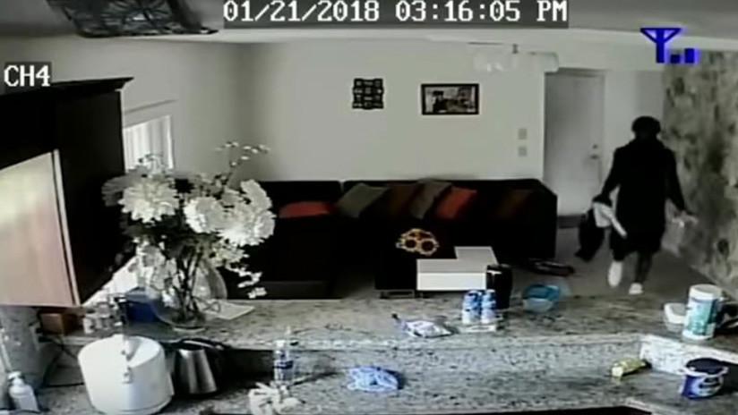 VIDEO: Ve en directo como entran a robar en su casa estando su hijo dentro
