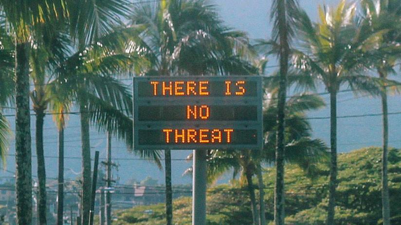 El sujeto que desató el pánico en Hawái con la alarma de misil nuclear lo hizo deliberadamente