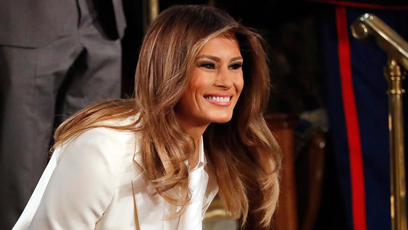Melania Trump atrae las miradas durante la intervención de su marido ante el Congreso