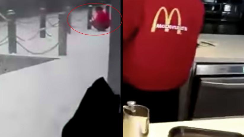 Video: Empleada de McDonald's recoge nieve del suelo para servirla en las bebidas