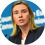 Federica Mogherini, alta representante de la Unión Europea para la Política Exterior y de Seguridad