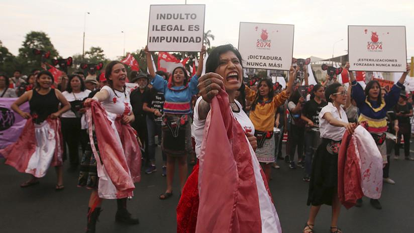 Protestas en Lima el 11 de enero de 2018.                                         Guadalupe Pardo