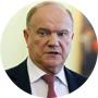 El líder el Partido Comunista de Rusia, Guennadi Ziugánov