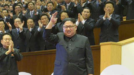 El líder norcoreano, Kim Jong-un, en Pionyang, el 29 de diciembre de 2017.