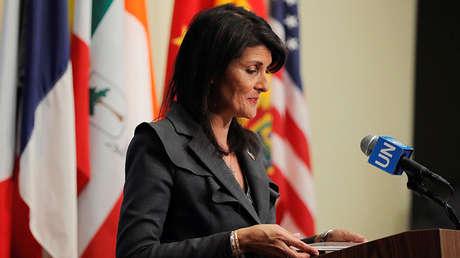 La embajadora estadounidense ante la ONU, Nikki Haley.
