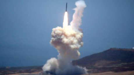 Prueba de un sistema de defensa antimisiles estadounidense