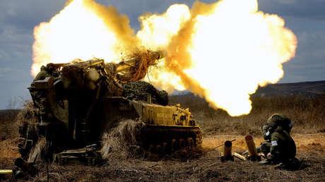 El sistema de artillería 2S5 Giatsint-S.