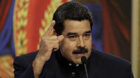 El presidente de Venezuela, Nicolás Maduro, durante una conferencia de prensa en el Palacio de Miraflores en Caracas, el 22 de agosto de 2017.