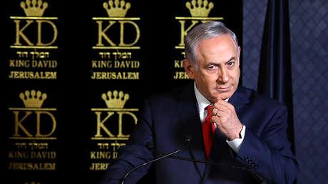 Benjamin Netanyahu durante un encuentro con los embajadores de los países de la OTAN en Jerusalén, el 9 de enero de 2018.
