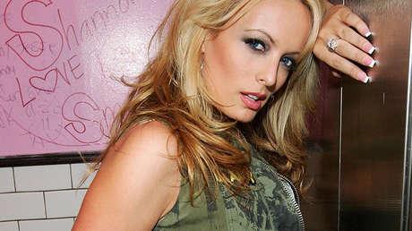 La actriz porno Stormy Daniels en Las Vegas, EE.UU., el 28 de agosto de 2006