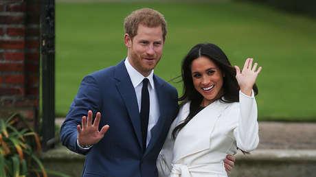 El príncipe Harry de Inglaterra y su prometida Meghan Markle, Palacio de Kensington, Londres, Reino Unido, 27 de noviembre de 2017.