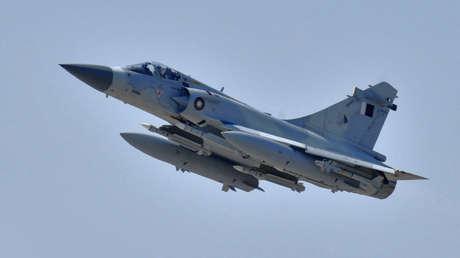 Un caza catarí Dassault Mirage 2000-5.