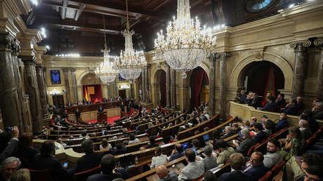 Carles Puigdemont en el Parlamento de Cataluña, el 10 de Octubre de 2017