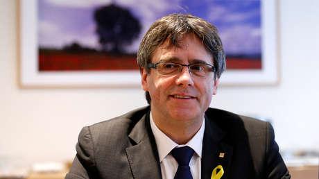 Puigdemont se reunió con el grupo parlamentario de Junts per Catalunya en Bruselas, 12 de enero de 2018.