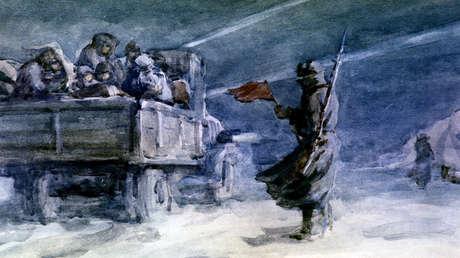 Copia del cuadro de Solomón Boim 'El Camino de la Vida, Ládoga'