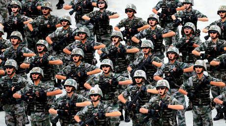 Soldados del Ejército chino, 2017