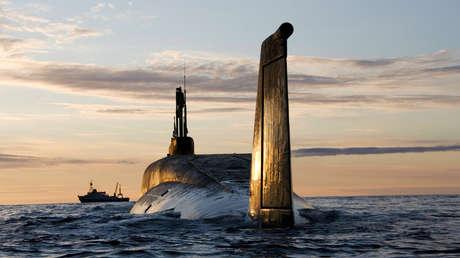 El submarino nuclear Yuri Dolgoruki en 2009. Los drones Status 6 están diseñados para ser lanzados desde submarinos.