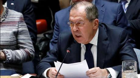 El Ministro de Asuntos Exteriores de Rusia, Serguei Lavrov.