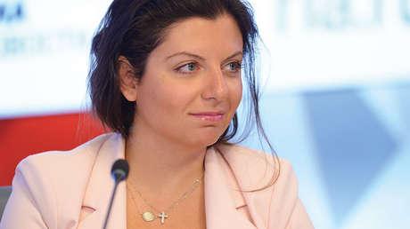 Margarita Simonián en Moscú, el 24 de mayo de 2017.