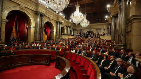 Sesión de constitución del Parlamento catalán. Barcelona, España, 17 de enero de 2018.