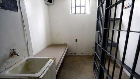 Una vista de la celda de 'El Chapo' dentro de la Penitenciaría Federal del Altiplano, de donde escapó el 11 de julio de 2015.