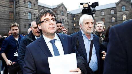 Carles Puigdemont en la Universidad de Copenhague hablando sobre la situación política catalana. 22 de enero.