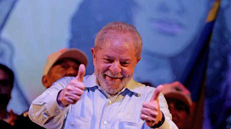 "Lula da Silva durante el evento ""Aguas de por vida y no por muerte"", Río de Janeiro (Brasil). 2 de octubre de 2017."