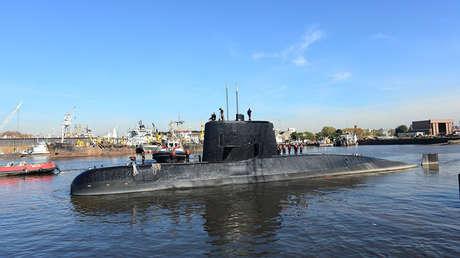 Fotografía del submarino ARA San Juan tomada en 2014.
