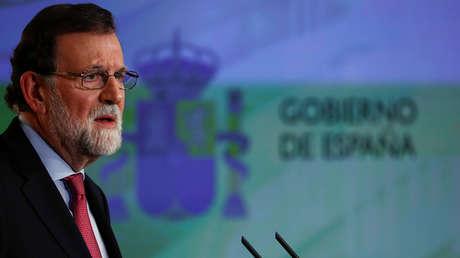 El presidente de España, Mariano Rajoy, en una rueda de prensa, Madrid, 29 de diciembre de 2017.