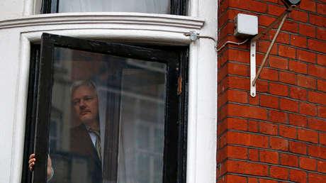 Julian Assange en la Embajada de Ecuador en Londres, Reino Unido, 5 de febrero de 2016.