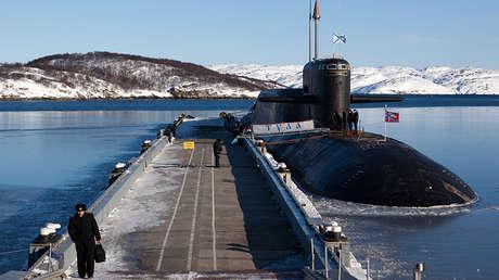 El submarino nuclear ruso K-114 Tula en la ciudad de Gadzhíevo.