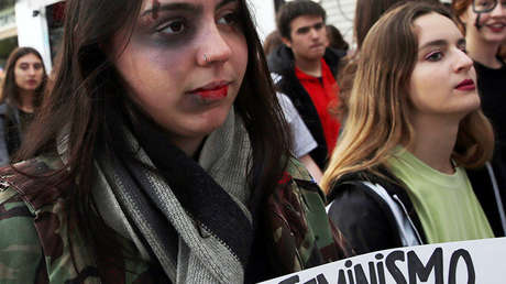 Una protesta contra los feminicidios y la violencia contra las mujeres en Buenos Aires (Argentina), el 3 de junio de 2017.