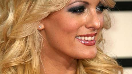 La actriz porno Stormy Daniels en Los Ángeles, EE.UU, el 10 de febrero de 2008.