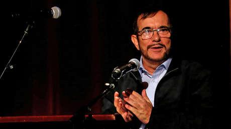 El dirigente de la FARC, Rodrigo Londono, en el aniversario de la firma de la paz en Bogotá, Colombia, 24 de noviembre de 2017.
