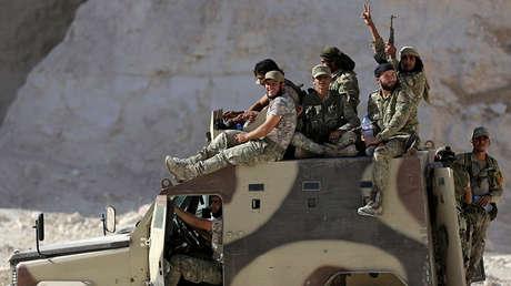 Combatientes del Ejército Sirio Libre en la ciudad de Al-Bab (Siria), el 27 de septiembre de 2017.