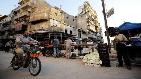 Distrito de Fardos en Alepo (Siria), el 10 de julio de 2017.