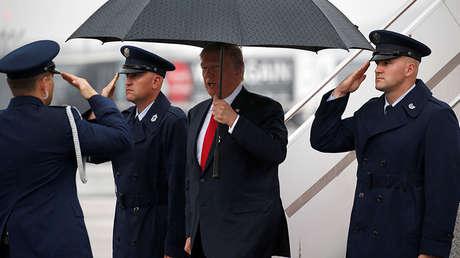 Donald Trump en Harrisburg, Pensilvania, el 11 de octubre de 2017