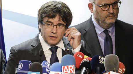 Carles Puigdemont el día siguiente de las elecciones catalanas. 22 de diciembre de 2017.