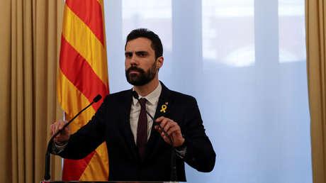 Roger Torrent , presidente del Parlamento de Cataluña. España, 30 de Enero de 2018.