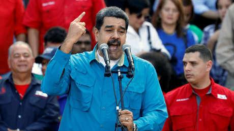 Nicolás Maduro, presidente de Venezuela, durante un acto con motivo del 60 aniversario del fin de la dictadura. 23 de enero de 2018.