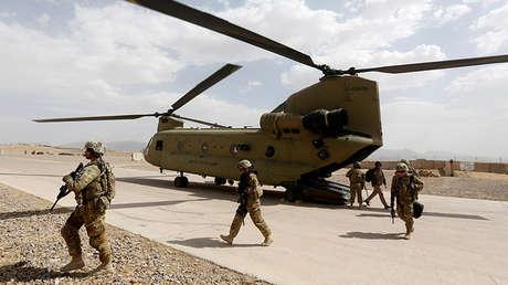 Tropas estadounidenses en la provincia afgana de Uruzgán, 7 de julio de 2017.